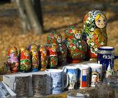 ロシアの入れ子人形 — ストック写真