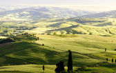 Sunset in Tuscany, Italy. — Stock Photo