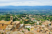 View of Val d'Orcia valley. Montepulciano — Stock Photo