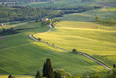 View from the ramparts of the city of Pienza — Stock Photo