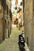 Scooter on the street in Montepulciano — Stock Photo