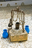 The ancient well in the courtyard of the mufti — Stock Photo