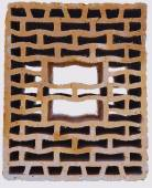 Close up poroton,  used brick stone for Building Construction. — Stock Photo