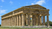 Greek temple of Neptune - Paestum Italy — Stock Photo
