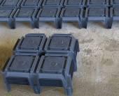 Jetable coffrages pour cavités sous le plancher ventilé — Photo