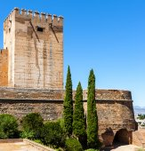 Exterior view of Alhambra, Spain — Stock Photo