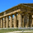 Stately greek temple of Neptune - Paestum, Italy — Stock Photo #70990735