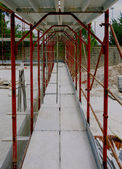 Scaffolds manufactured for the construction of a new building — Stock Photo