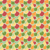 Vector seamless pattern of fruit — Stock Vector