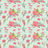 Beauty seamless floral pattern — Stock Vector