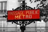 Metro sign  in Paris, France — Stock Photo