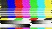 TV Color Bars Malfunction — Stock Photo
