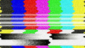 TV Color Bars Malfunction — Stock Photo