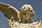 Beautiful Stone Angel Face — Stock Photo