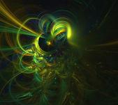 Fractal Light Forms 462 — Stock Photo