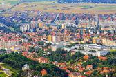 Aerial view of the Old Town, Brasov, Transylvania, Romania — Stock Photo
