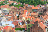 SIGHISOARA, ROMANIA - JULY 17: Aerial view of Old Town in Sighisoara, major tourist attraction on July 17, 2014. City in which was born Vlad Tepes, Dracula — Stock Photo