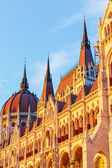 Hungarian Parliament Building in Budapest, World Heritage Site by UNESCO — Stock Photo