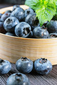 Blueberry on wooden board — 图库照片