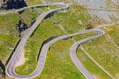 Transfagarasan mountain road, Romanian Carpathians — Stock Photo