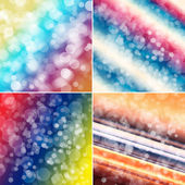 Set of colorful circles with bokeh background  — Stock Photo