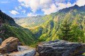 View of the Fagaras mountains in Romania — Foto de Stock