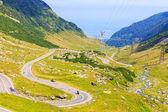 Estrada de montanha Transfagarasan, Cárpatos Romenos — Fotografia Stock