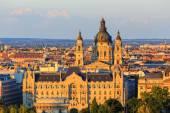 Budapest und donau panorama blick auf den fluss, ungarn, europa — Stockfoto