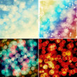 Set of colorful bokeh backgrounds — Stock Photo #54233149