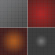 Set of Metal mesh texture background — Stock Photo #54539477