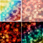 Set of colorful bokeh backgrounds — Stock Photo