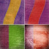 Set geometrische grunge kleurrijke achtergronden — Stockfoto