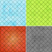 Csoportja geometriai grunge hátterek — Stockfoto