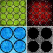 Reeks van kleurrijke cirkels achtergronden, afbeelding — Stockfoto