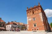 Sandomierz, Poland - MAY 23: Sandomierz is known for its Old Town, which is a major tourist attraction. MAY 23, 2014. Sandomierz, Poland.  — Stock fotografie