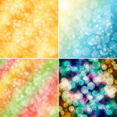 Set of colorful circles with bokeh background  — Foto de Stock