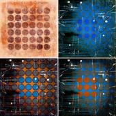 Set of geometric grunge colorful backgrounds — Stock Photo