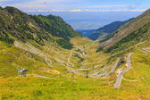 Route de montagne transfagarasan, carpates roumains — Photo
