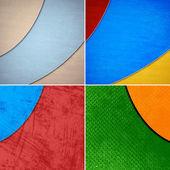 Conjunto de planos de fundo coloridos geométricas grunge — Fotografia Stock