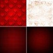 Set of backgrounds with hearts — Stock Photo #56143147