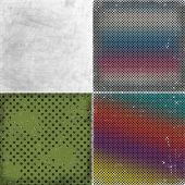Set of grunge background with circles, illustration  — Stock Photo