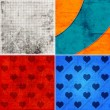 Set of backgrounds with hearts — Stock Photo #57253285