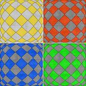 Set of geometric grunge backgrounds  — Foto de Stock