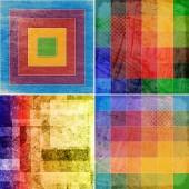 Set of geometric grunge colorful backgrounds  — Foto de Stock