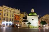 KRAKOW, POLAND - October 09 2014: The single-nave building of Church of St. Wojciech in the Market Square, built in the Romanesque style, Krakow, Poland October 09 2014 — Stock Photo