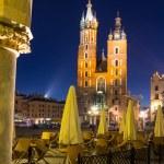 St. Mary's Church at night in Krakow, Poland. — Stock Photo #58589873