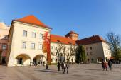 KRAKOW, POLAND - November 02: People visit Royal Wawel Castle in Krakow on november 02, 2014. Krakow is most famous city to visit in Poland  — Stock Photo