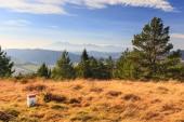 Paesaggio di montagna autunnale — Foto Stock