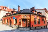 Bielsko Biala, Polsko - 07 září 2014: Pohled na historické části Bielsko Biala v létě, slunečný den — Stock fotografie