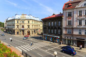 Bielsko Biala, Poland - September 07, 2014: View of the historical part of Bielsko Biala in the summer, sunny day — Foto Stock